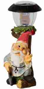 Solar Garden Gnomes with Saw LED Light