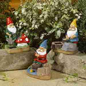 Smart Solar Garden Gnomes Spotlights 3 pack