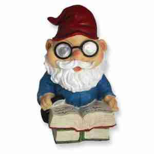 Solar Powered Reading Garden Gnome