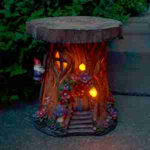 Solar Powered Tree House Garden Ornament