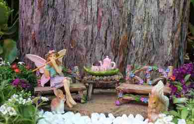 miniature fairy garden furniture kit
