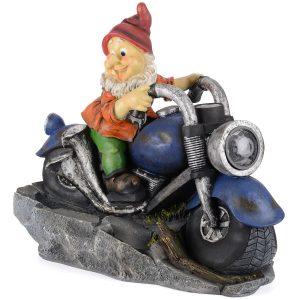 Motorbike Garden Gnome Water Fountain